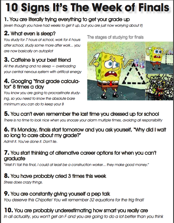 10 Ways You Know It's Finals Week