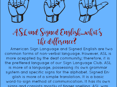ASL vs Signed English