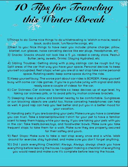 10 Tips for Traveling this Winter Break