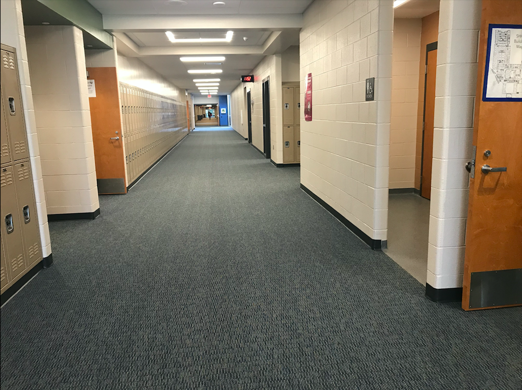 On May 10, the hallways stand empty due to the cancelation of Bronco Hour because of the senior prank.