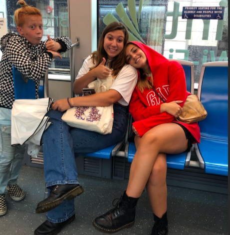 After arriving from her flight from Italy, Giorgia Natale, 12, and Kastin Galloway, 10, finally meet in person ready to start their journey as a family while Natale is here.