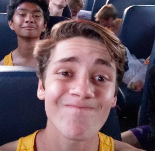 A picture from the bus ride of my second and last meet. The bus rides were sometimes the best part of a meet (Photo submitted by RWhite).