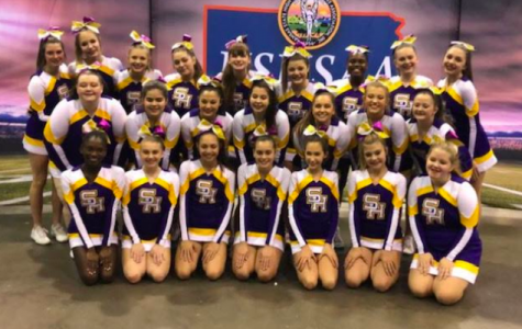 On Saturday, Nov. 23 the SHHS Cheer Team competed at KSHAA Game Day Competition. They placed tenth in the 5A division (Photo Courtesy of KEdigar).