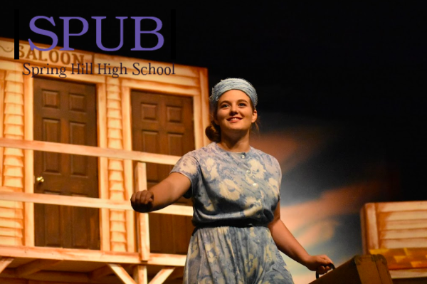 """Maggie McNally, 10 performs in the school musical, """"Crazy for You. She is hoping to fit Rep Theater into her schedule soon."""
