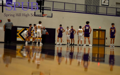 At the end of the scrimmage, Fletcher Pankey, 10, lines up to shoot free throws. He had just been fouled and had the opportunity to get 2 points (photo by EDowd).