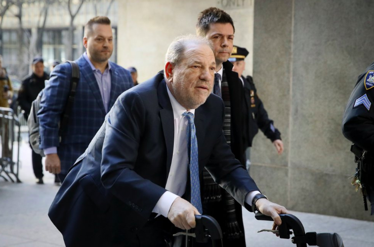 On+Monday%2C+Feb.+24%2C+in+New+York%2C+Harvey+Weinstein%2C+producer%2C+arrives+at+Manhatten+courthouse.+He+was+convicted+earlier+this+month+and+was+sentenced+this+morning+%28Photo+courtesy+of+AP+photo+and+John+Minchillo%29.