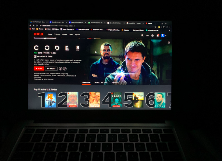 "When you go onto Netflix you will see that ""Code 8"" is #6 (at the time of writing this April 17th) in the ""Top 10 in U.S. Today."" It's preview briefly introduces you to Code 8's world of superpowers (Photo by Z. Knust)."