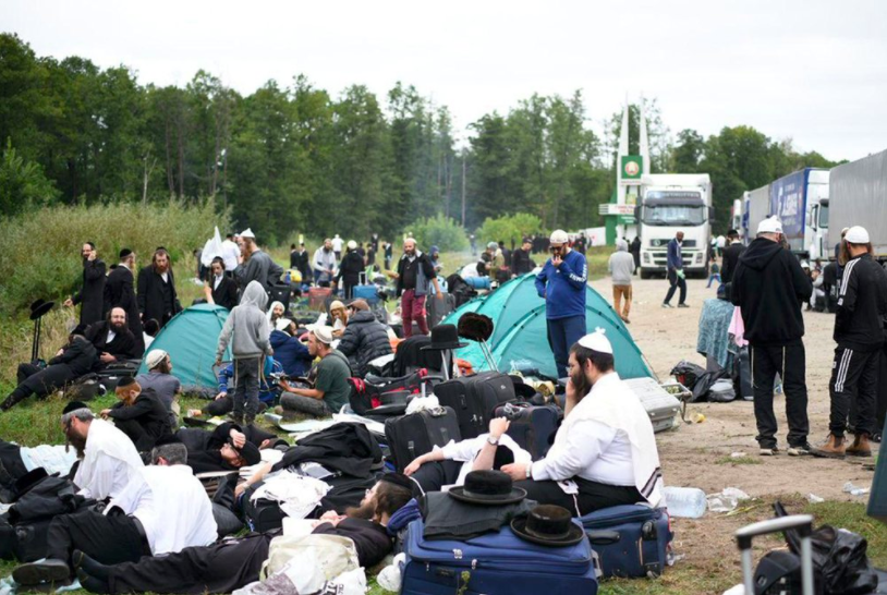 About 700 Jewish pilgrims have been denied access to the city of Uman due to Ukraines COVID restrictions (photo courtesy AP News).