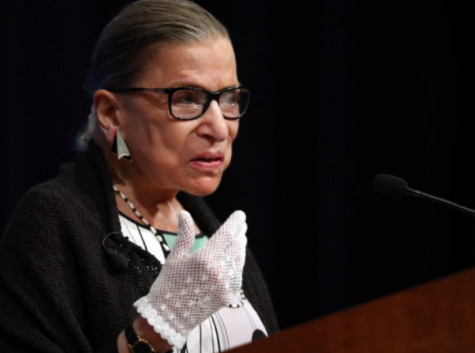 At Georgetown Law School, the late Supreme Court Justice Ruth Bader Ginsburg speaks to students on Sept. 17, 2020. She passed away on Sept. 18, 2020; her death leaves an important vacancy on the Supreme Court Bench and begs the question: who should fill it (Photo Courtesy of Carolyn Caster via AP).