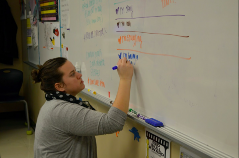 Mariah Ramos, science teacher, teaches multiple science classes at the high school. Her lesson on the Big Bang theory in Earth Space science is by far the most controversial (photo by O. Chrisman).