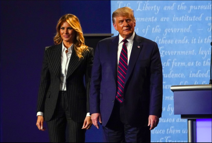 President Donald Trump tweeted that both he and First Lady Melania tested positive for COVID-19 (photo courtesy AP News).
