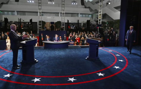 President Donald Trump and former Vice President Joe Biden debated for the first time on live TV Sept. 29, but it quickly devolved into squabbling (photo courtesy AP News