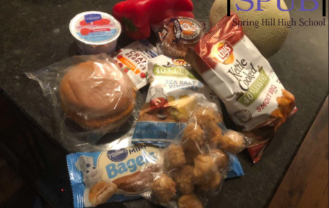 Selections like these are only a portion of what the school district has been offering to students who take advantage of the free meals being offered. Even when everyone returns to the school, they are still guaranteed one free entree (photo by  G. Roberts).