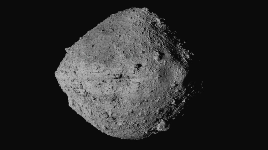 U.S. Spacecraft Osiris-Rex made contact with an asteroid, the first from the U.S. to do so. It should return with its findings in a few years (photo courtesy AP News).