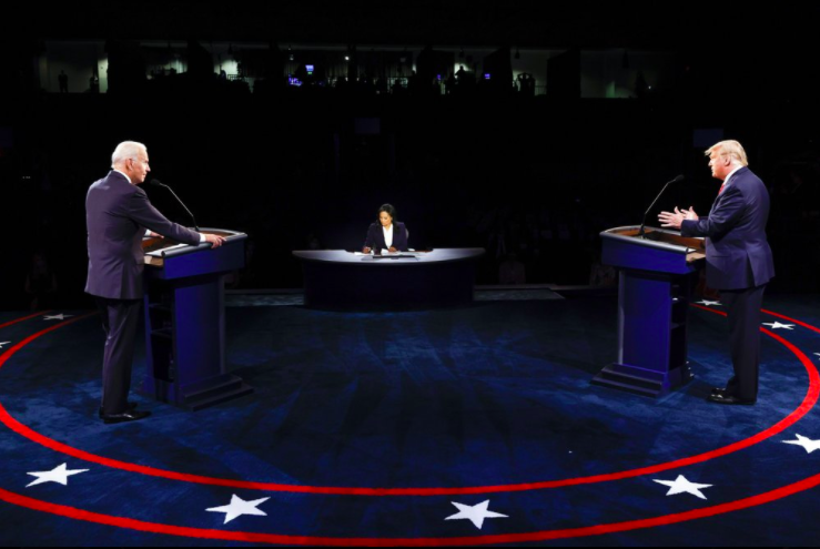 President Donald Trump and former Vice President Joe Biden took the stage again on Oct. 22 for their final presidential debate before Election Day. The debate covered a wide variety of topics, from immigration to the pandemic to climate change (photo courtesy AP News).