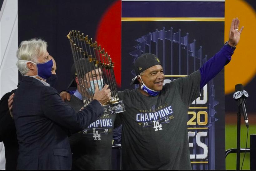 Los Angeles Dodgers Win World Series Stampede
