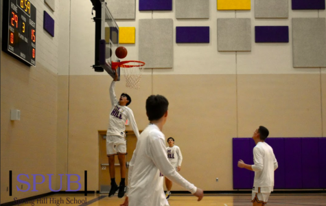 On Feb. 19, the Boys Basketball team practiced in the gym. Practices will look vastly different from what these players are used to (photo credit A. Dickey).