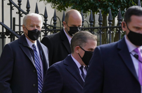 On Jan 24. Joe Biden, U.S. President, seen leaving Holy Trinity Catholic Church in Georgetown, Washington D.C. This was Biden