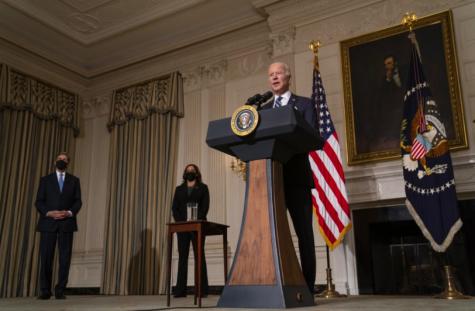 Joe Bidens third day in office saw him focus on economic relief (photo courtesy AP News).