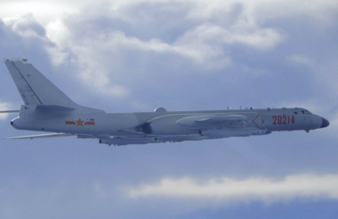 A picture, released by Taiwan, showing a Chinese military plane in Taiwanese airspace. The U.S. has now reaffirmed their support of Taiwan (photo courtesy AP News).