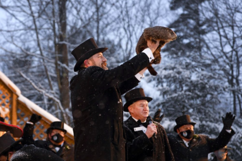 On Feb. 2, the 135th annual celebration of Groundhog Day took place. Punxsutawney Phil predicted six more weeks of winter weather this year (photo courtesy AP News).