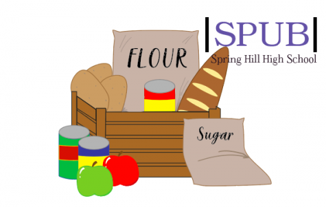 The Spring Hill food pantry helps serve a lot of members of the community. In 2020 alone, they helped over 5,000 people combat food insecurity (design credit O. Leblanc).