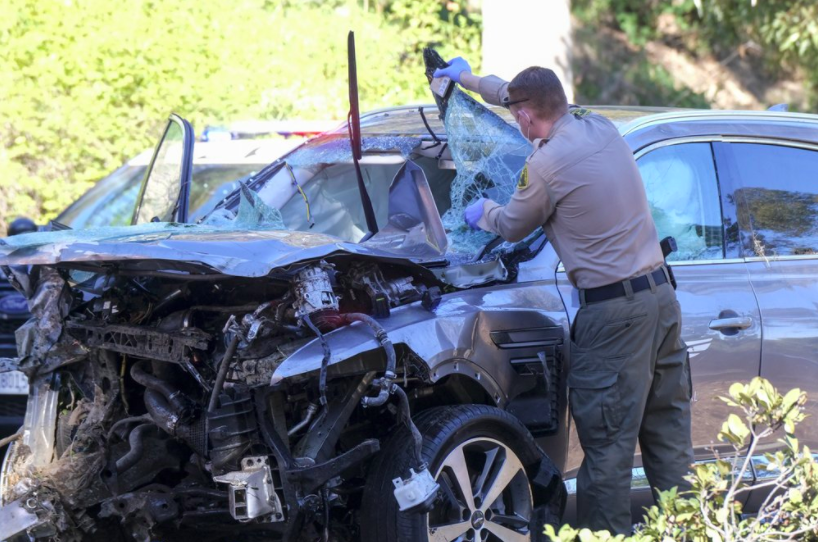 Professional golfer Tiger Woods is in the hospital after a severe car crash. He has since underwent surgery (photo courtesy AP News).
