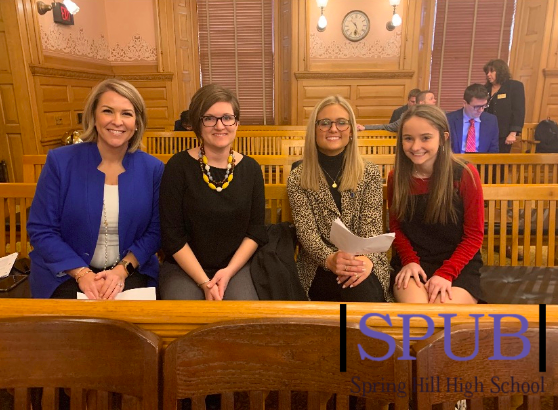 At the state senate I, along with three other victims, spoke to pass a new law (photo credit A. Davis).