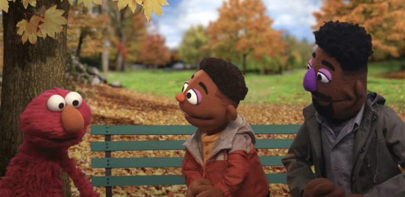 Sesame Workshop has introduced two new muppets as part of an effort to help educate young kids about race and racial identity (photo courtesy AP News).