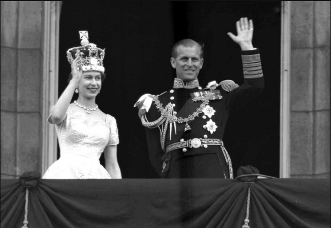 Queen Elizabeth and Prince Phillip taking the throne in 1952 (Photo Courtesy AP).