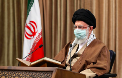 Supreme Leader Ayatollah Ali Khamenei of Iran attends a meeting. Iran is increasing their production of uranium after a recent attack (photo courtesy AP News).