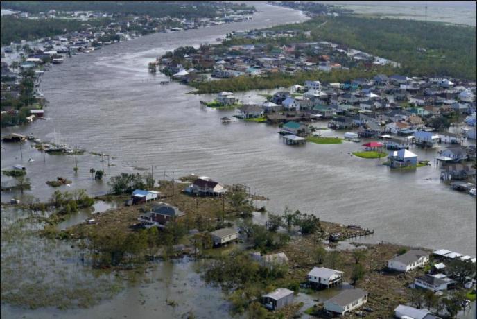 Hurricane Ida strikes New Orleans, causing severe flooding (Photo Courtesy AP News).