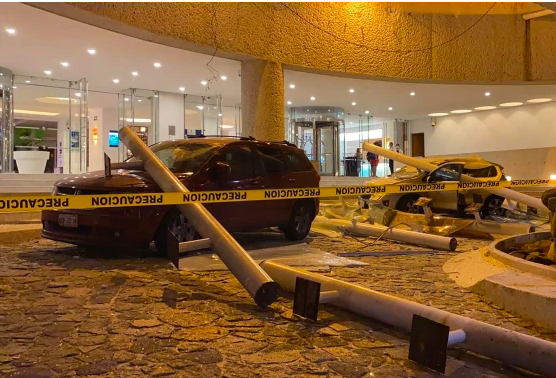 Although damage was minor from the earthquake, there still was quite a bit of damage to cars. As buildings werent completely destroyed, cars and other objects were damaged (Photo Courtesy NBC News).